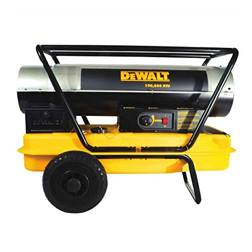 Lowest Prices! Dewalt Heavy Duty 190000 BTU Forced Air Kerosene Portable Work Job Site Heater