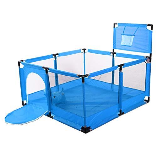 iBaste Parque infantil para bebé, 126 x 126 x 66 cm, con neumáticos de baloncesto, valla...