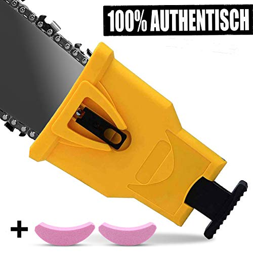 """Anddicek Chainsaw Teeth Sharpener, Universal Chainsaw Sharpener Fast Sharp Sharpening Stone Grinder Tool Fit for 14"""" 16"""" 18"""" 20"""" Two Hole Chain Saw Blade Sharpener"""