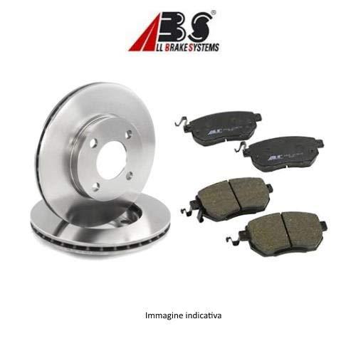 Ecommerceparts 9145375041041 Kit de 2 discos de freno traseros + Kit de 4 pastillas de freno traseras ECP (ABS)