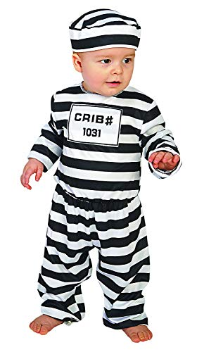 Forum Novelties unisex baby Doing Time Infant and Toddler Costumes, As Shown, 18-24 Months US