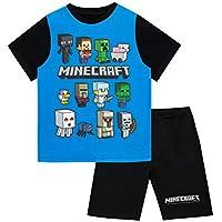 Minecraft Pijamas de manga corta para niños Steve and Creeper Negro 11 - 12 Años