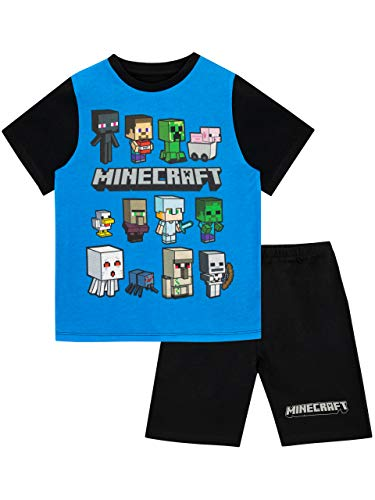Minecraft Pijamas de Manga Corta para niños Steve and Creeper