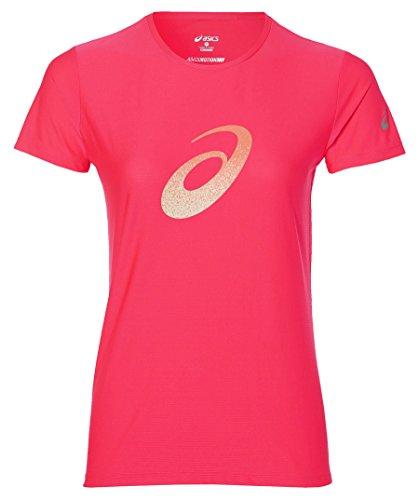 ASICS Graphic SS T-Shirt, Damen XS Rosa (Diva pink)