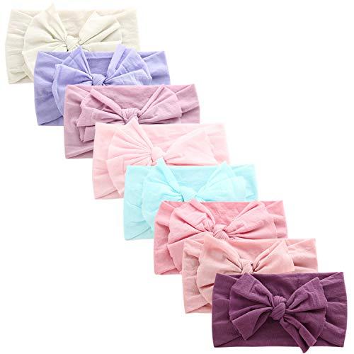 COUXILY Baby Mädchen Stirnbander Top Knot Turban Headwrap für 3-48 Monaten (B10)