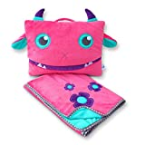 Pillowie - Cute Travel Pillow and Blanket Set - Portable Comfort Item for Children - Violet