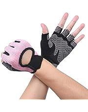 Flintronic Sporthandschoenen, ademende trainingshandschoenen met microvezelstof, fitnesshandschoenen voor heren en vrouwen, gewichtheffen/fietsen