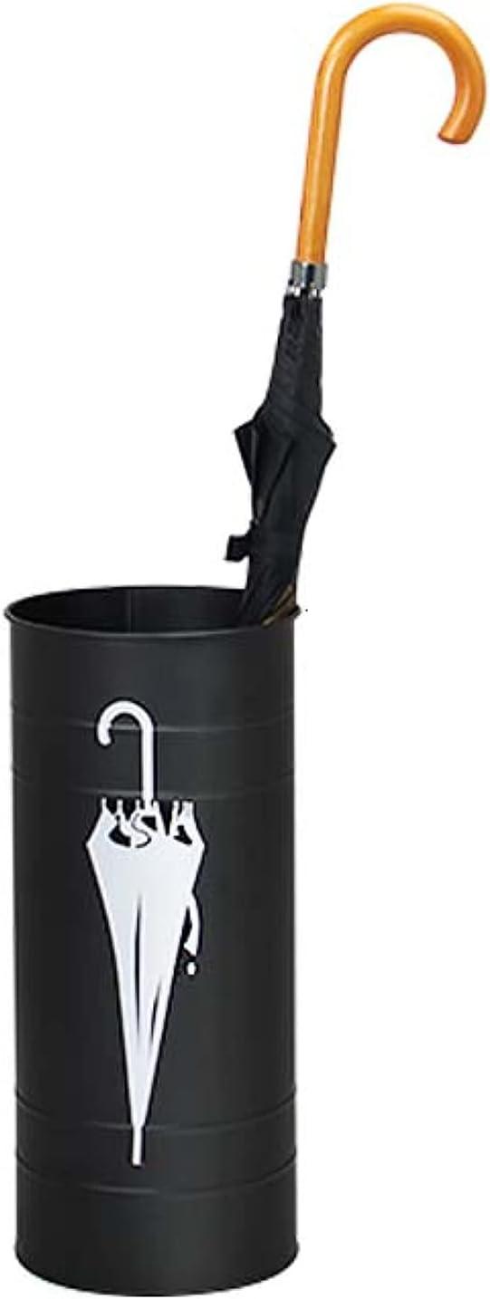 ZXCVB Porta Paraguas Moderno Metal, 21x47cm Paragüero con Gancho Y Bandeja Recogegotas Extraíble,para Decorar El Hogar Y La Oficina Creativo del Barril del Paraguas del,Black