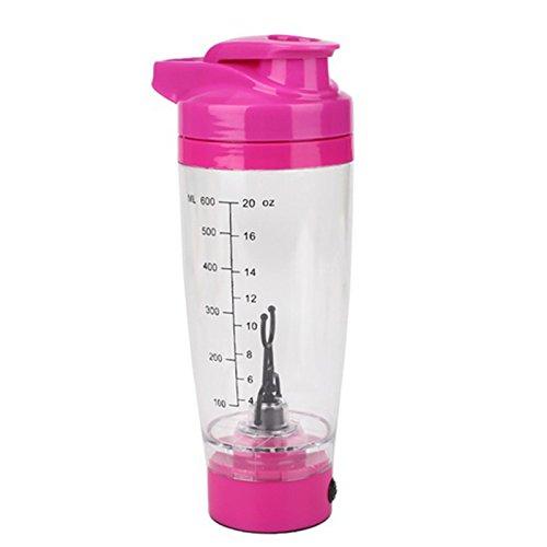 OVBBESS Botella mezcladora eléctrica portátil de la coctelera de la proteína del...