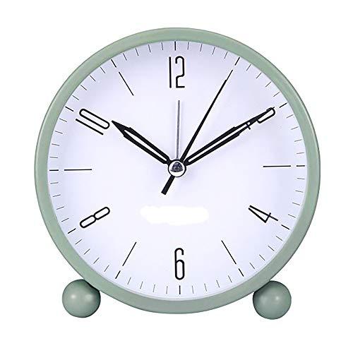 XQK Analógico Reloj Despertador, Multicolor con Pilas del Reloj De Tabla, Regulable Cálida Noche De Luz con Ultra-silencioso Puntero para El Hogar Y Dormitorio (Green)