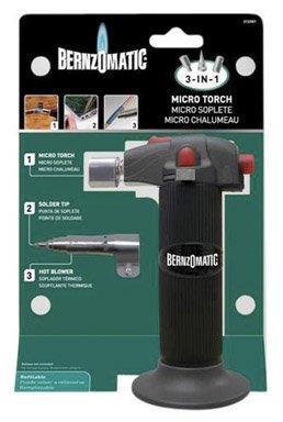 Bernzomatic Micro Torch 3 - In - 1, Butane Three Tips