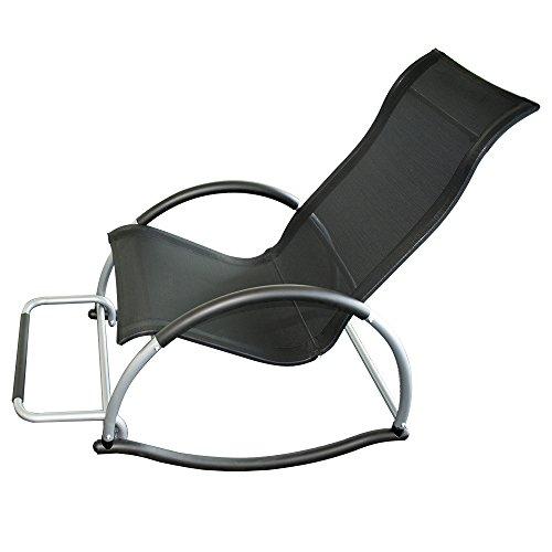 Big Home Shop Trueshopping Ledro Rocking Chair con reposapiés Luz 4.5kg. Tela Textil de fácil Cuidado. Suave Movimiento Mecedora. Silla práctica, fácil de Transportar, Elegante