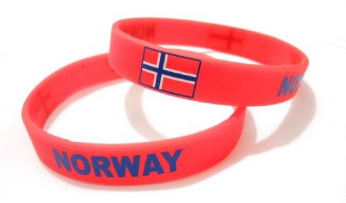 AccessCube, Unisex Silikon-Armband, mehrfarbig, Länderflagge, Sport, Mode, 20,2 cm, Damen, Norwegen