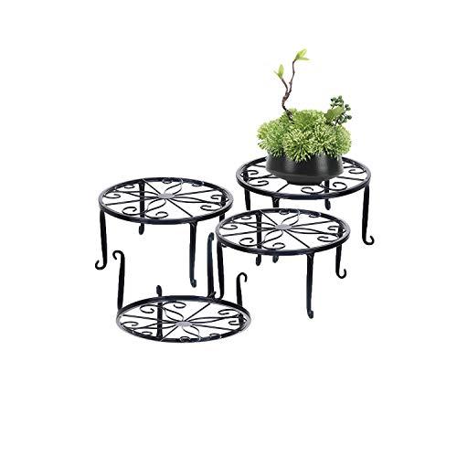 Soporte para plantas de metal, 3 en 1, soporte para plantas de suelo, macetero, estante de hierro, soporte para plantas interiores,...
