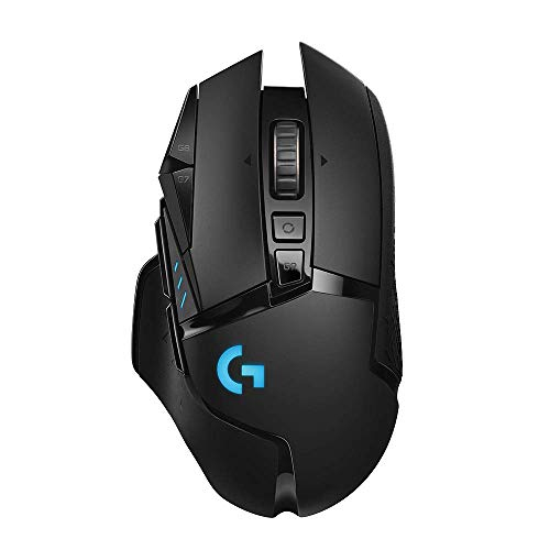Logitech G502 LIGHTSPEED Wireless Gaming Mouse with HERO 16K Sensor, PowerPlay Compatible, Tunable Weights and Lightsync RGB, Black