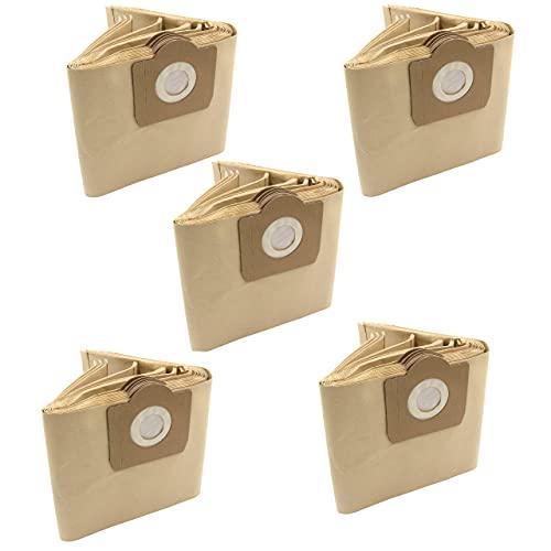 vhbw 50x bolsa compatible con Quigg NTS 1000 / NTS1000 aspiradora - papel, color arena