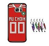 FUNcoque Coque Silicone Bumper Souple Samsung Galaxy S7 Edge -Football Maroc Nouveau Maillot Domicile Personnalisable...