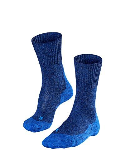 FALKE Herren, Wandersocken TK1 Wool Merinowollmischung, 1 er Pack, Blau (Yve 6714), Größe: 44-45