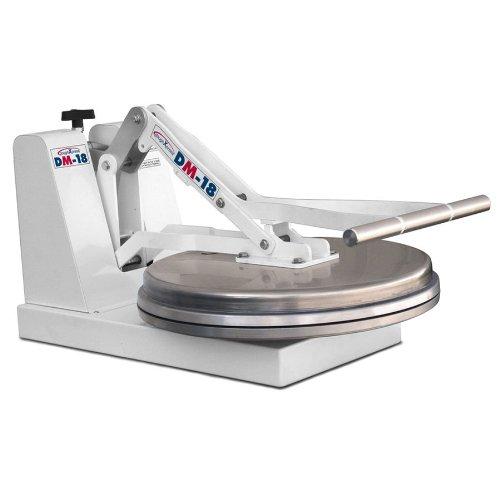 "DoughXpress DM-18NH Manual Cold Dough Press with 18"" Platens, 18"" Width x 15"" Height x 28-1/8"" Depth"