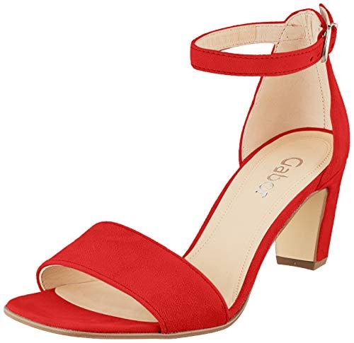 Gabor Shoes Damen Fashion Riemchensandalen, Rot (Rubin 15), 39 EU