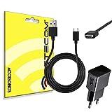 actecom® Cargador 2A + Cable USB 3.1 Tipo C USB Negro Compatible con Samsung S8 S8 Edge +