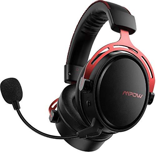 Mpow Air Pro 2.4G Wireless-Gaming-Headset, Over-Ear-Gaming-Kopfhörer für PS4/PC/Mac/Switch, 7.1Surround Sound, Zweikammer-Treiber, Low-Latency-Kopfhörer, Mikrofon mit Geräuschunterdrückung