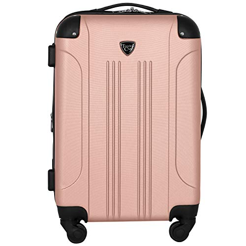 Travelers Club Chicago II 20' Expandable Spinner Carry-On Luggage, Rose Gold