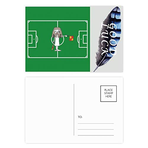 Handball-Schiedsrichterflagge, Cartoon-Mumie, Glücks-Postkarten-Set mit Federn, 20 Stück