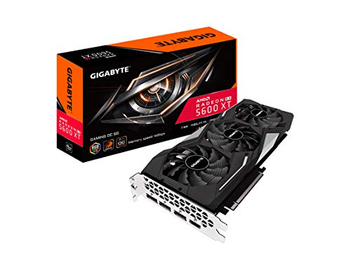 GIGABYTE Radeon RX 5600 XT Gaming OC 6G (Rev. 2.0) Graphics Card, PCIe 4.0, 6GB 192-Bit GDDR6, GV-R56XTGAMING OC-6GD REV2.0 Video Card