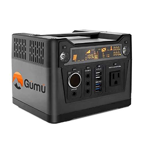 GÜMÜ 300W-generadore solare portátil con AC/DC Inverter para Camping Fuente de alimentación DC & outports USB, Cargado por el Panel Solar/Toma de Corriente/Salida de Coches(300w)