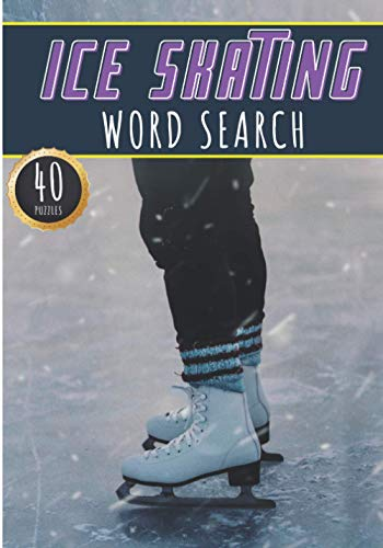 Ice Skating Word Search: 40 Fun Puzzles With Words Scramble for Adults,...