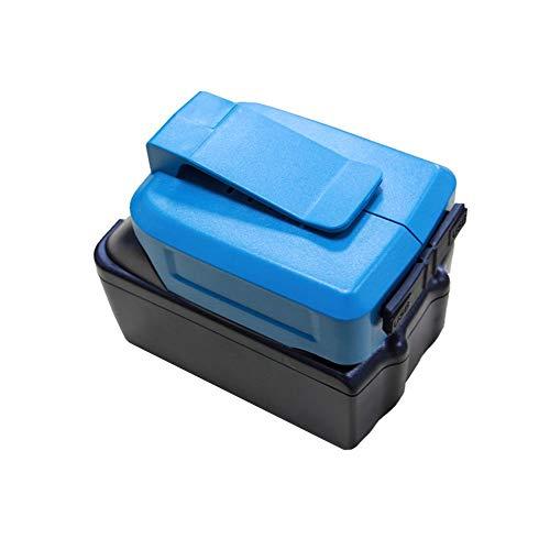 IBISHITAOXUNBAIHUOD - Adaptador de carga USB conversor de batería para MK 18 V 14,4 V BL1415 BL1430 BL1445 BL1815 batería Li-ION ADP05 (azul)