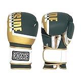 Ringside Bullet Sparring Gloves, Gold/Green, 14 oz (RP3 GD/HG 14OZ)