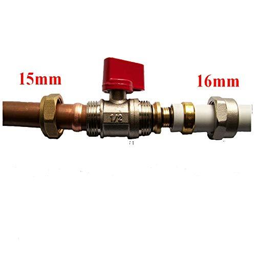 Adaptador reductor 15 mm/16 mm PEX-AL-PEX accesorios de