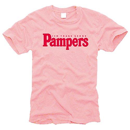 Ich trage gerne Pampers (rosa) - T-Shirt - Gr. S