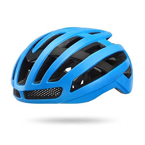 YXDEW Bicicleta Casco de Seguridad neumática TT Ciclismo Cascos for los Hombres de Las Mujeres de Velocidad del Casco de Ciclista Motocicleta (Color : Blue)