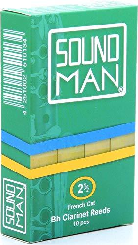 10 Soundman® Cañas de Lengüeta para Clarinete Boehm - Fuerza 1,5
