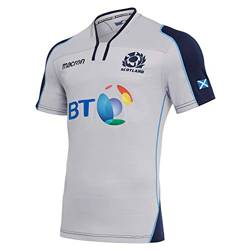 Macron 2018-2019 Scotland Alternate Authentic Replica Rugby Football Soccer T-Shirt Trikot