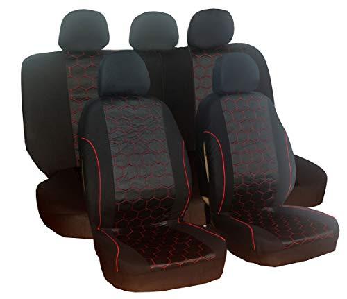 Housses de siège de voiture en polyester avant et arrière pour Juke Micra Navara D40 Qashqai J10 J11 Terrano 2 X-Trail T31 T32 306 307 308 508 4007 508 Sw