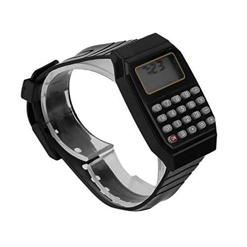 Ba30DEllylelly Kinder Studenten Rechner Digitaluhr Solid Color Silikon Komfortable Wear Calculator Armbanduhr für Kinder