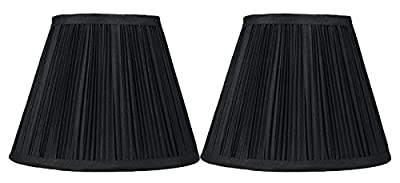Urbanest Mushroom Pleated Softback Lamp Shade, Faux Silk, 5-inch by 9-inch by 7-inch, Spider-fitter