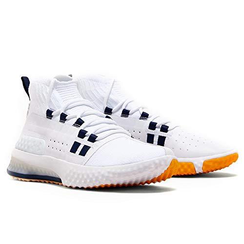 Under Armour Project Rock 1 Chaussures d'entraînement pour homme, Blanc (Blanc/bleu marine/taxi (108).), 43 EU