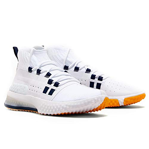 Under Armour Project Rock 1 Men's Training Shoes (10.5, White/Navy/Taxi (108))
