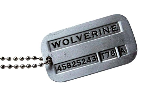 Tojwi Male Cool Kpop X-Men Wolverine Necklace Vintage Weapon-X Dog Tags Pendant - Fashion Design
