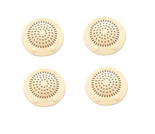 4pcs universale colorato morbido silicone Ventose in gomma Drain Stopper con bagno capelli filtro per bagni e Lavanderie, (Colore casuale)Small