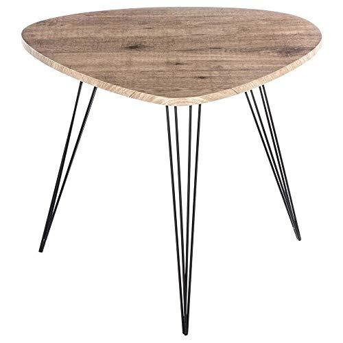 Atmosphera Table Basse Table d'appoint - Style Vintage - Coloris Bois et Noir