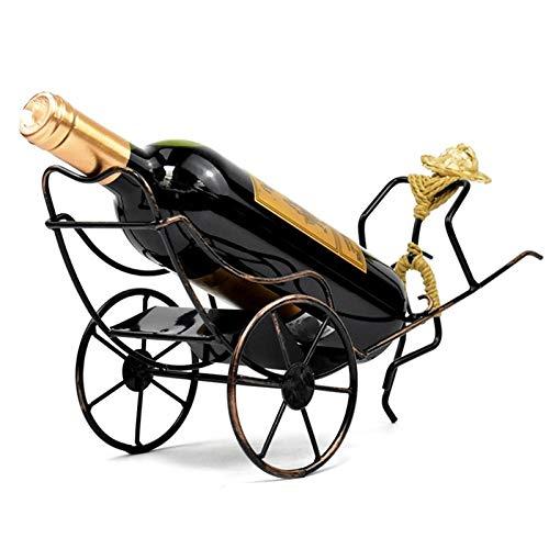 XKMY Housewares - Estante para botellas de vino con forma de Rickshaw para decoración de mesa, ideal como regalo para el hogar, cocina, regalo