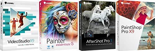 Corel Software Kit- PaintShop X9/VideoStudio X9/AfterShot 3/Painter Essentials 5