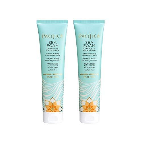 Pacifica Sea Foam Complete Face Wash, 2Count