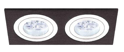 Empotrable Aluminio 2 Luces basculante y orientable, (Válido para Halógena o ...